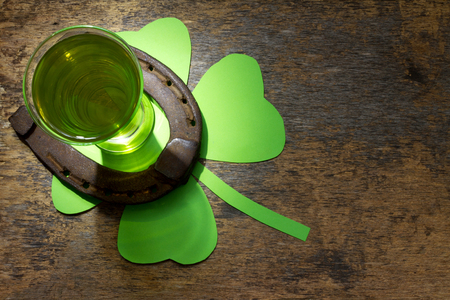 green beer: St. Patricks Day abstract background with green beer