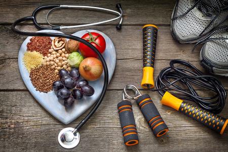 concetto di stile di vita sano con la dieta e fitness