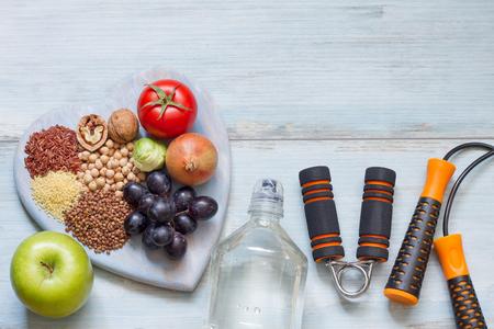 Gezonde lifestyle concept met een dieet en fitness
