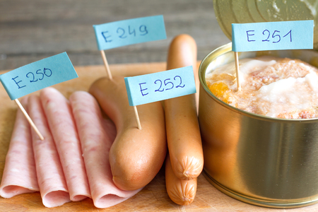 canned meat: Unhealthy meat poisonous chemical junk food and ingredients