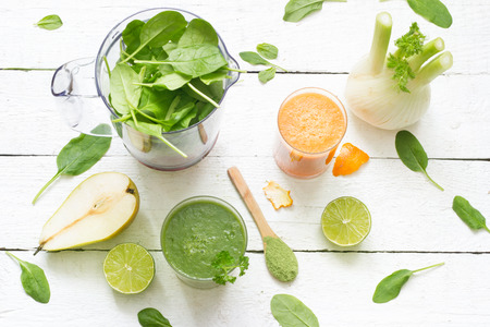 kiwi: Fruits, vegetables, smoothie, blender, abstract health diet lifestyle concept Stock Photo
