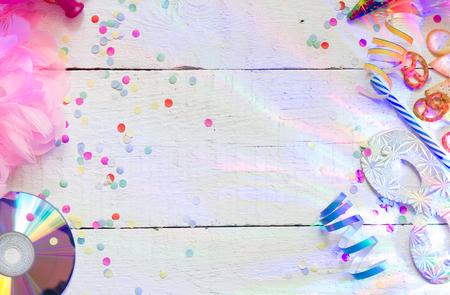 invitacion fiesta: Carnaval concepto de fondo de fiesta de cumpleaños con luces abstractas