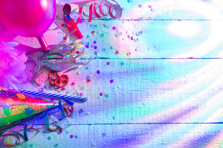 Carnival birthday party background concept with abstract lights