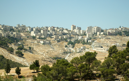 Palestine city on the slopes of Mount of Olives in east Jerusalem, Israel