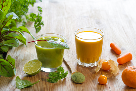 Fresh juice fruits and herbs healthy life style alternative medicine food concept