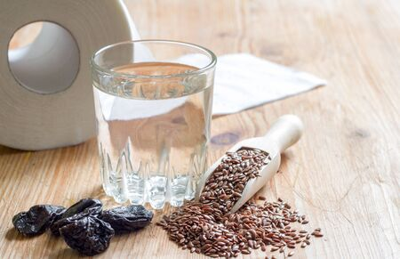 Help constipation warm water dried plum and linseed