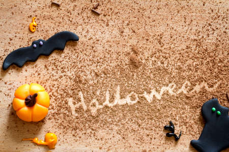 Sweet halloween background concept Standard-Bild