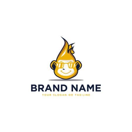 logo monkey vector template white background