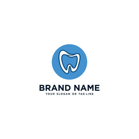 care teeth, dental logo design vector template