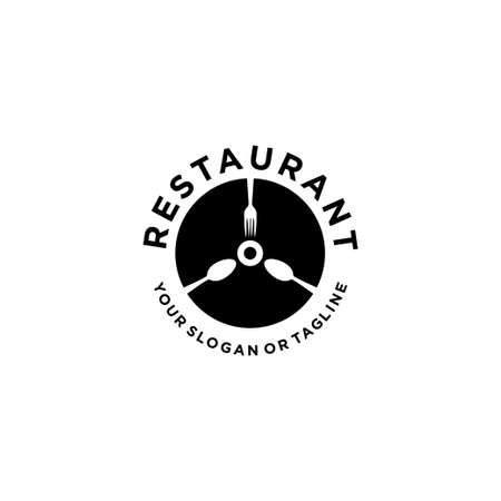 Restaurant logo for the food and drinking industry vector template