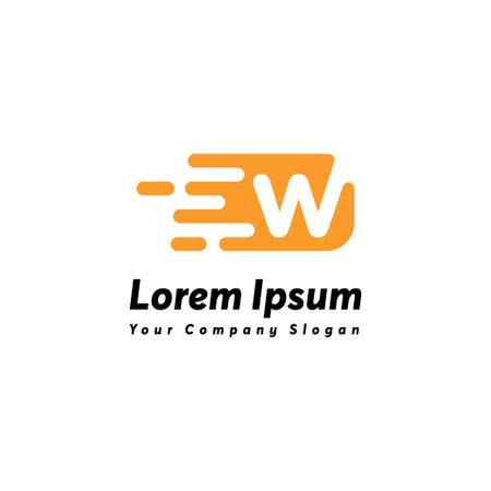 Fast letter w logo icon design vector template