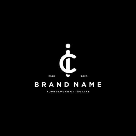 letter CI logo design vector template Illusztráció