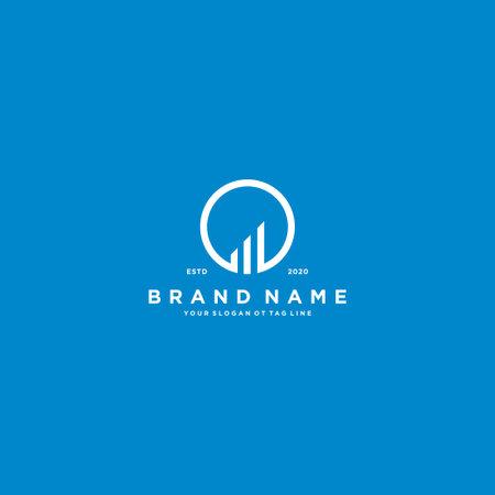 creative Letter O Financial Chart Logo Design vector template