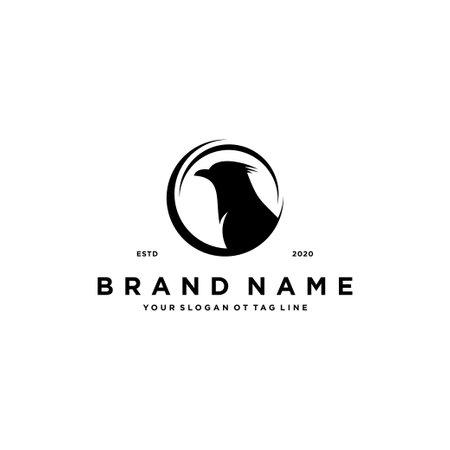 Crow Logo design vector template