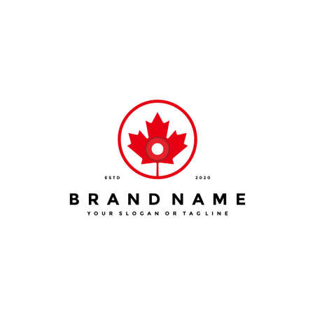 letter O maple logo design vector template