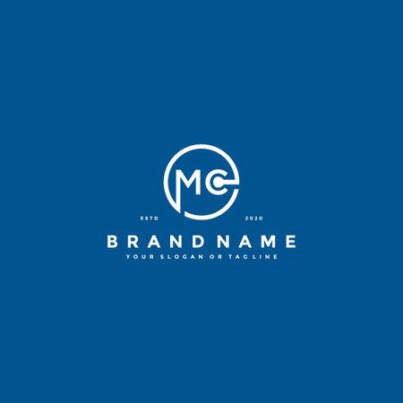 letter MC logo design vector template
