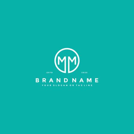 letter MM logo design vector template