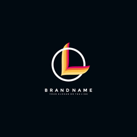 letter L colorful logo design vector template