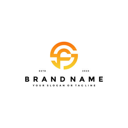 letter SF logo design vector template