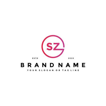letter SZ logo design vector template Logó