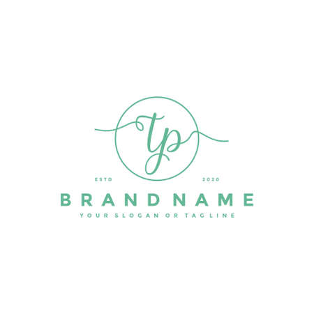 letter TP Feminine logo design vector template