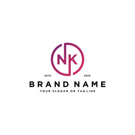 letter NK logo design vector template