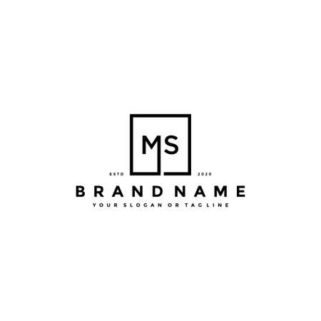 letter MS logo design vector template