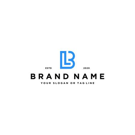 letter LB logo design vector template
