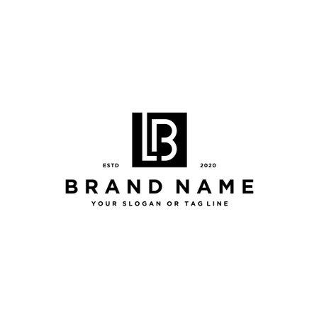 letter LB logo design vector template Logó