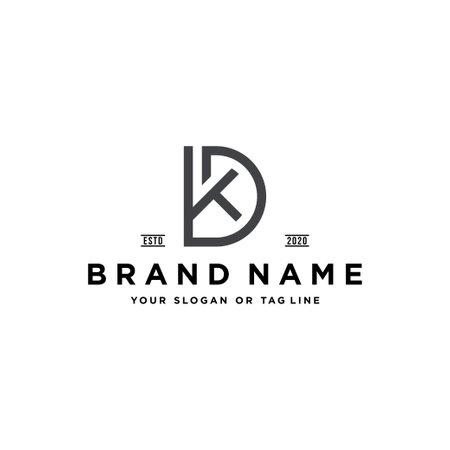 letter DK design vector template