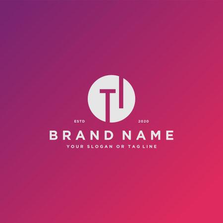 letter TI logo design vector template