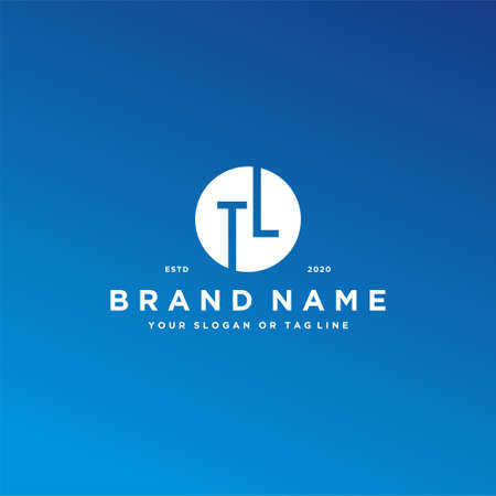 letter TL logo design vector template