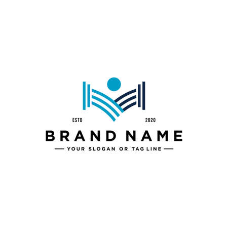 law people logo design vector template Stock Illustratie