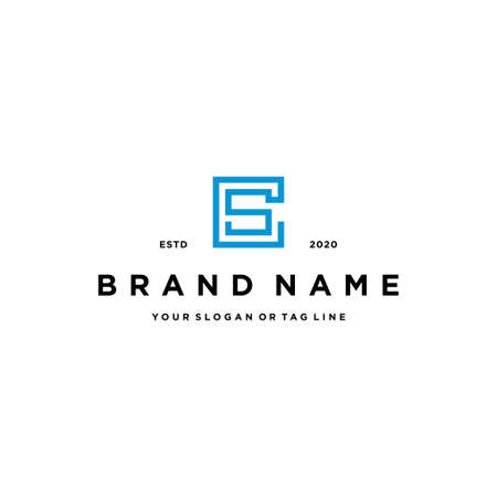 letter CS logo design vector template