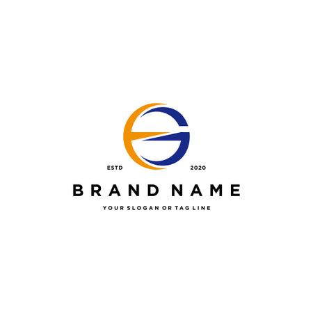 letter EG logo design vector template Ilustração