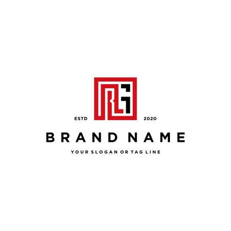 letter RG logo design vector template
