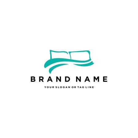 pillow covers logo design vector template Logos