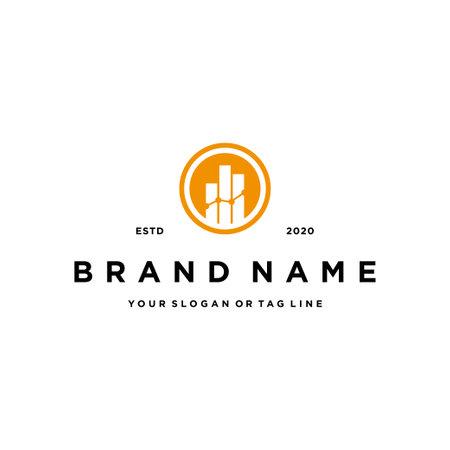letter o chart financial design logo icon concept vector template