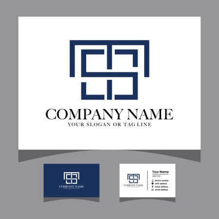 initials ts logo with a business card vector template Logó