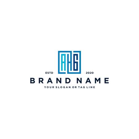 letter AHG square logo design vector template