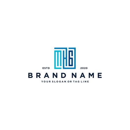 letter MHG square logo design vector template
