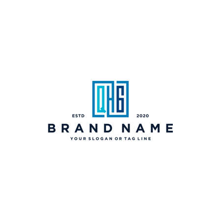 letter QHG square logo design vector template