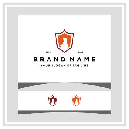 palo duro shield logo design vector template