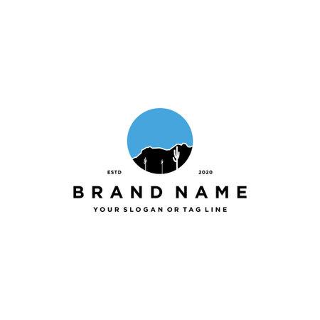 sonoran desert logo design vector template