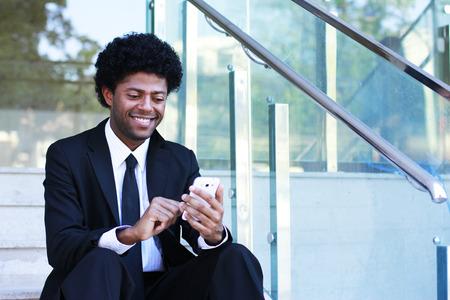 message text: business man write message text