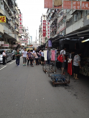 sham: Most vibrant street market in the city-Shamshuipo Hong Kong  Stock Photo