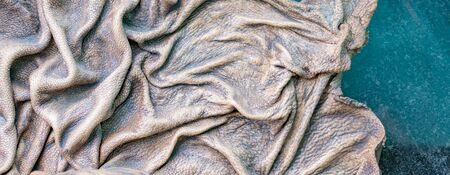 Textured image of embossed wrinkled leather
