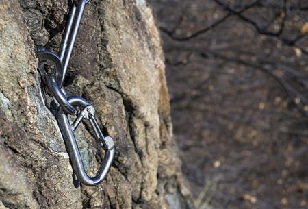mountain anchor for free climbing
