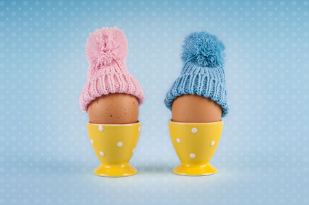 male and female: male female eggs Easter vintage pattern
