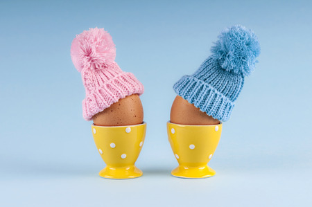 male and female: male female eggs Easter Stock Photo